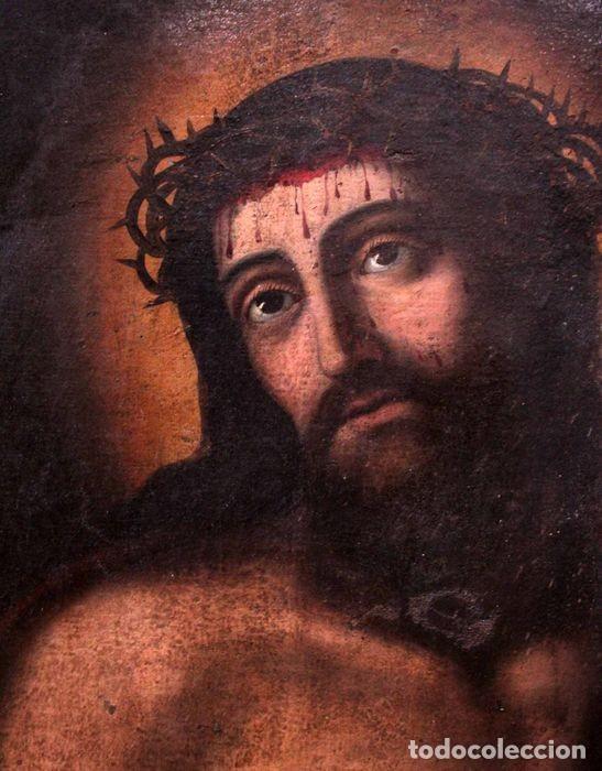 ESCUELA ESPAÑOLA (S.XVIII) - ECCE HOMO. OLEO / LIENZO 81X62CM (Arte - Pintura - Pintura al Óleo Antigua siglo XVIII)