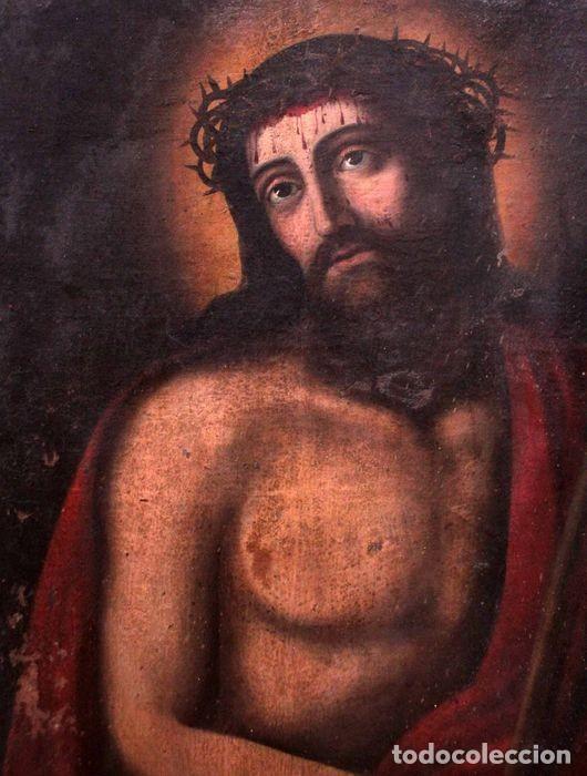 Arte: Escuela española (s.XVIII) - Ecce Homo. Oleo / lienzo 81x62cm - Foto 2 - 262561995