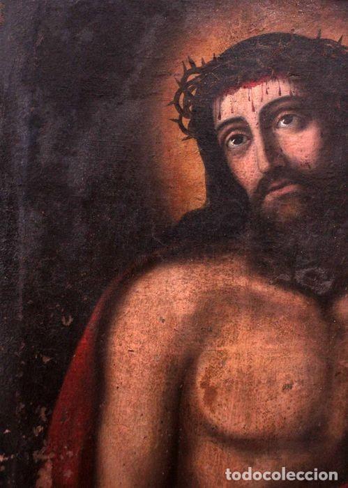 Arte: Escuela española (s.XVIII) - Ecce Homo. Oleo / lienzo 81x62cm - Foto 3 - 262561995