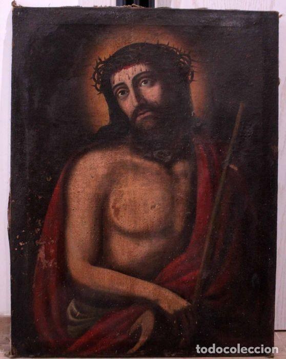 Arte: Escuela española (s.XVIII) - Ecce Homo. Oleo / lienzo 81x62cm - Foto 4 - 262561995