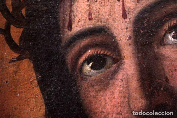Arte: Escuela española (s.XVIII) - Ecce Homo. Oleo / lienzo 81x62cm - Foto 5 - 262561995