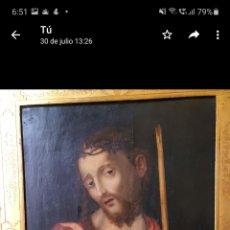 Arte: ECCE HOMO. S. XVI. TABLA ANTIGUO. CÍRCULO LUIS MORALES. Lote 262591770