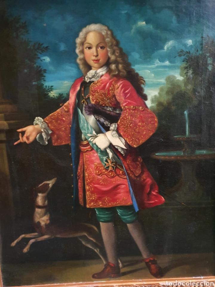 Arte: bello retrato Fernando VI. 114cm por 100cm. S. XVIII. circulo Ranch. - Foto 2 - 262601390