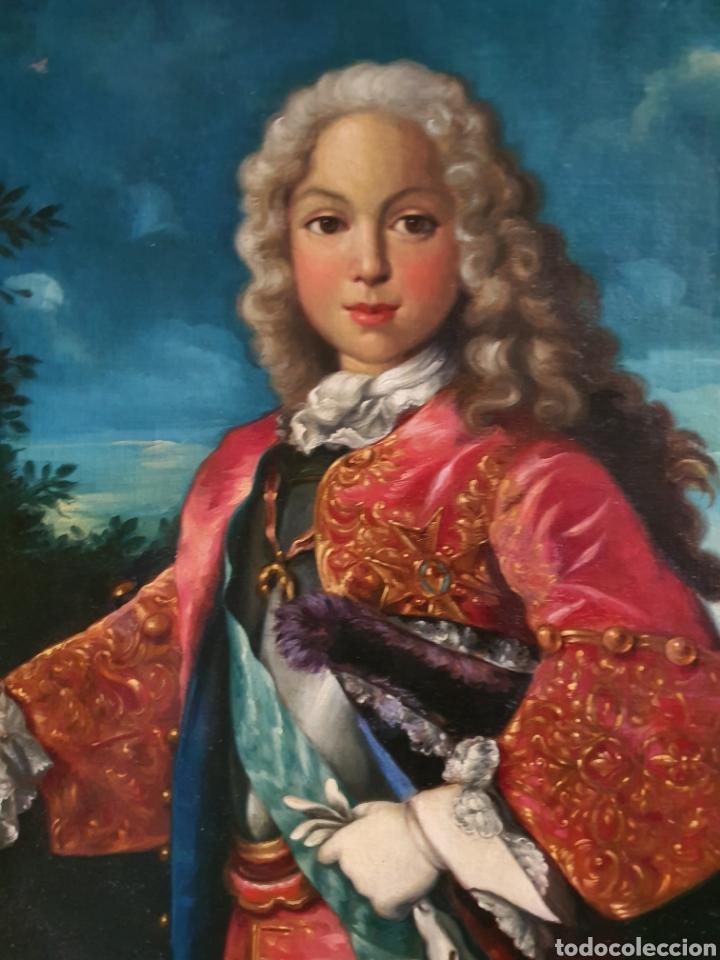 BELLO RETRATO FERNANDO VI. 114CM POR 100CM. S. XVIII. CIRCULO RANCH. (Arte - Pintura - Pintura al Óleo Antigua siglo XVIII)