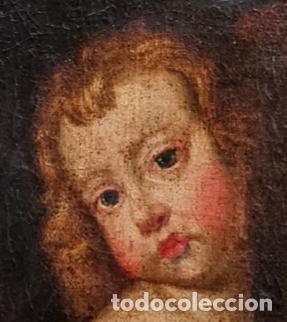 Arte: Niño Jesús portando Cruz, óleo. Christ Child bearing cross. ca 1680. Spanish school. Oil on canvas. - Foto 3 - 262623525