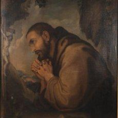 Arte: OLEO SOBRE LIENZO SAN FRANCISCO ORANDO ESCUELA ESPAÑOLA SIGLO XVII. Lote 262639130