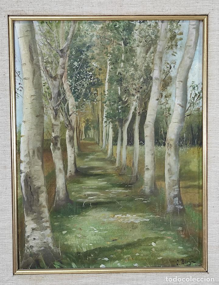 Arte: J. Berga Boada (Olot 1872-Sant Feliu Guixols 1923) - Óleo sobre Tela - Paisaje - Foto 2 - 262686055