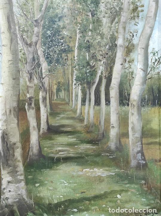Arte: J. Berga Boada (Olot 1872-Sant Feliu Guixols 1923) - Óleo sobre Tela - Paisaje - Foto 3 - 262686055