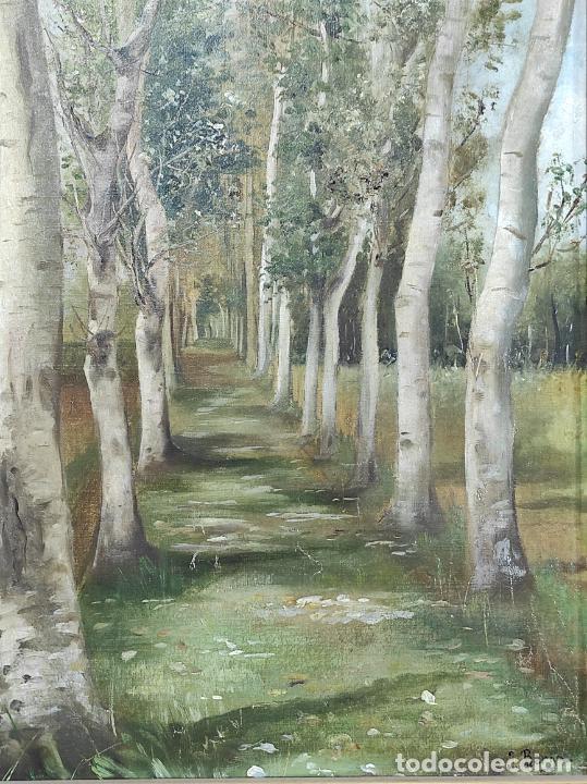Arte: J. Berga Boada (Olot 1872-Sant Feliu Guixols 1923) - Óleo sobre Tela - Paisaje - Foto 10 - 262686055