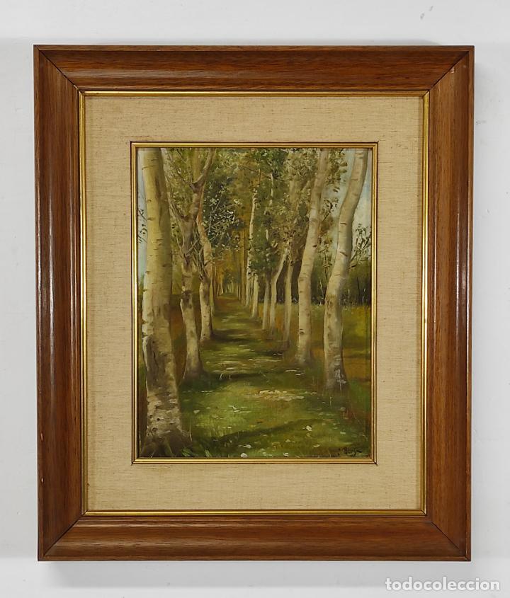 J. BERGA BOADA (OLOT 1872-SANT FELIU GUIXOLS 1923) - ÓLEO SOBRE TELA - PAISAJE (Arte - Pintura - Pintura al Óleo Moderna siglo XIX)