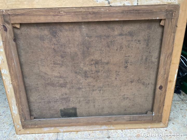 Arte: Oleo sobre tabla:La muerte de San José.Siglo XVIII - Foto 2 - 262689910
