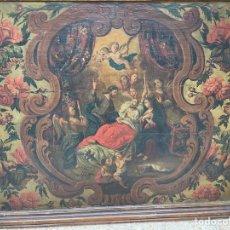 Arte: OLEO SOBRE TABLA:LA MUERTE DE SAN JOSÉ.SIGLO XVIII. Lote 262689910