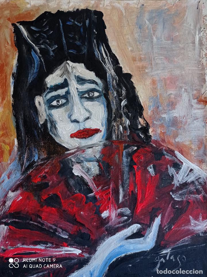 PERSONAJE ,PINTURA SOBRE TELA (Arte - Pintura - Pintura al Óleo Contemporánea )