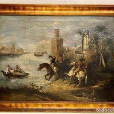Arte: ESCUELA ESPAÑOLA DEL XVIII, LA PERSECUCIÓN.. Lote 262744510