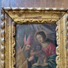 Arte: INTERESANTE OLEO SOBRE COBRE- ESCENA RELIGIOSA- SIGLO XVIII. Lote 262759085