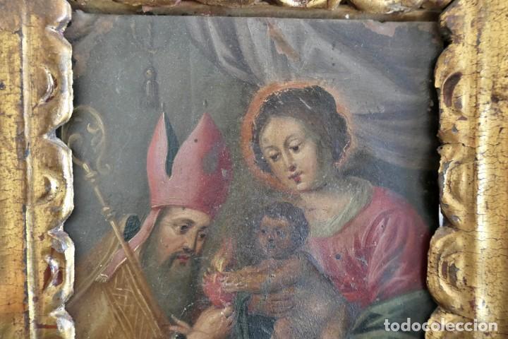 Arte: INTERESANTE OLEO SOBRE COBRE- ESCENA RELIGIOSA- SIGLO XVIII - Foto 3 - 262759085