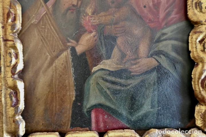 Arte: INTERESANTE OLEO SOBRE COBRE- ESCENA RELIGIOSA- SIGLO XVIII - Foto 5 - 262759085
