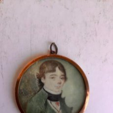 Arte: ANTIGUA MINIATURA PINTADA SOBRE MARFIL , SIGLO XIX -ESPAÑOLA. NOMBRE Y FECHA 1837. Lote 262793035