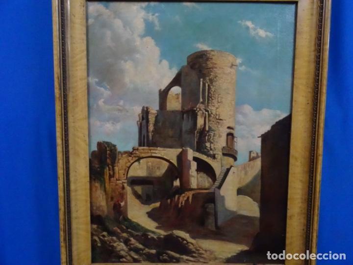 ÓLEO ANONIMO DEL SIGLO XIX. ESCUELA CATALANA DE GRAN CALIDAD. (Arte - Pintura - Pintura al Óleo Moderna siglo XIX)