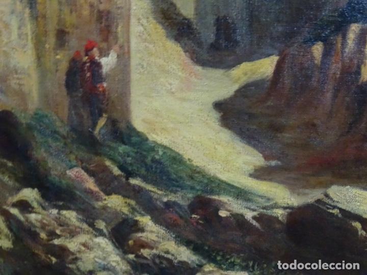 Arte: ÓLEO ANONIMO DEL SIGLO XIX. ESCUELA CATALANA DE GRAN CALIDAD. - Foto 9 - 262812945