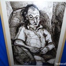 Arte: GRAN DIBUJO EN TÉCNICA MIXTA DE JORDI MARAGALL. SALA PARES.. Lote 262814245