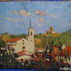 Arte: ÓLEO REENTELADO ANONIMO CERCANO A LA OBRA DE JOAQUIM MIR. BUEN TRAZO Y COLORIDO.. Lote 262815375