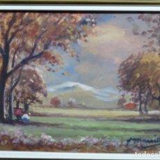 Arte: ÓLEO SOBRE TABLA DE JOAQUIM MARSILLACH. ESCUELA OLOTINA.. Lote 262815690