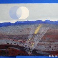Arte: GRAN ÓLEO EN TELA DE RAMON LLOVET ( BARCELONA 1917-1987). L' ÚNICA ESPIGA. 1979.. Lote 262818000