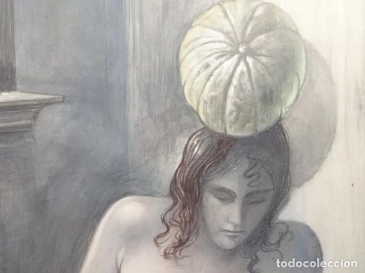 Arte: ÓLEO EN TABLEX DE JOAN RIFA I BENET (TORELLO 1926-2009). LA INÚTIL ESPERANZA. 1979. - Foto 5 - 262818685