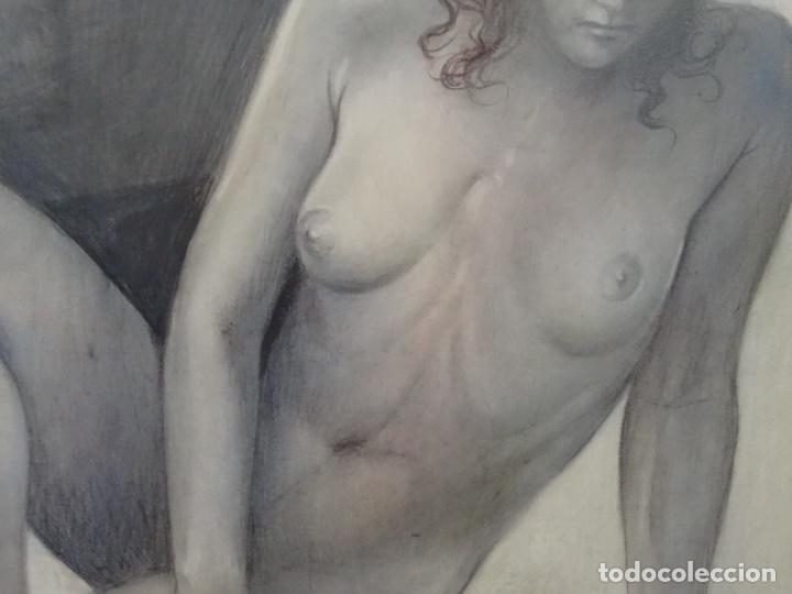 Arte: ÓLEO EN TABLEX DE JOAN RIFA I BENET (TORELLO 1926-2009). LA INÚTIL ESPERANZA. 1979. - Foto 6 - 262818685