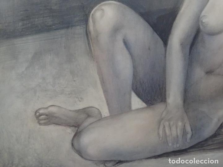 Arte: ÓLEO EN TABLEX DE JOAN RIFA I BENET (TORELLO 1926-2009). LA INÚTIL ESPERANZA. 1979. - Foto 7 - 262818685