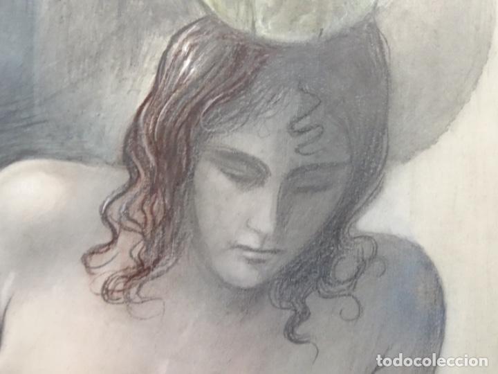 Arte: ÓLEO EN TABLEX DE JOAN RIFA I BENET (TORELLO 1926-2009). LA INÚTIL ESPERANZA. 1979. - Foto 9 - 262818685