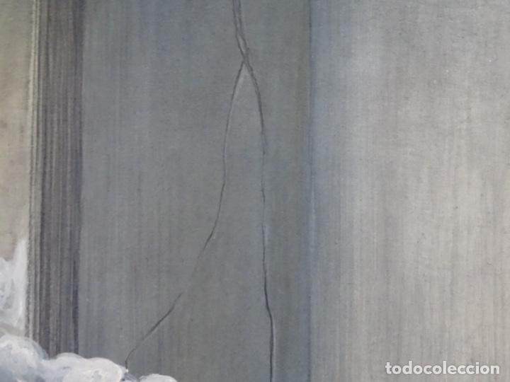 Arte: ÓLEO EN TABLEX DE JOAN RIFA I BENET (TORELLO 1926-2009). LA INÚTIL ESPERANZA. 1979. - Foto 11 - 262818685