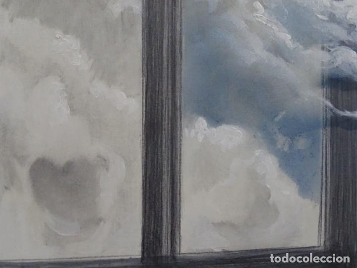 Arte: ÓLEO EN TABLEX DE JOAN RIFA I BENET (TORELLO 1926-2009). LA INÚTIL ESPERANZA. 1979. - Foto 13 - 262818685