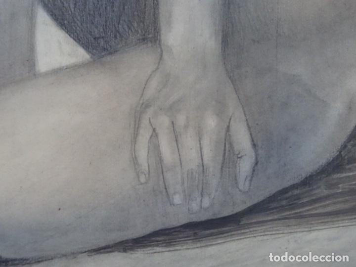 Arte: ÓLEO EN TABLEX DE JOAN RIFA I BENET (TORELLO 1926-2009). LA INÚTIL ESPERANZA. 1979. - Foto 15 - 262818685
