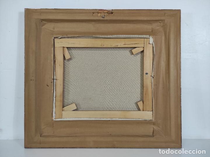 Arte: Angel Codinach (Olot 1922- Girona 1995) - Óleo sobre Tela - Paisaje, Pont de les Mores, Olot - Foto 8 - 262839530