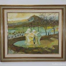 Arte: JOAN CLAPERA MAYÀ (OLOT 1929 - 2018) - TITULO FLORS - OLOT, AÑO 1988. Lote 262841790