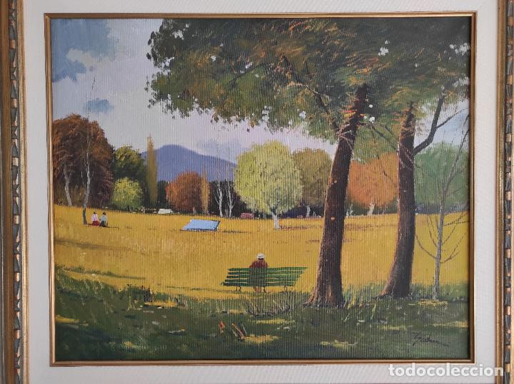 Arte: Antoni Maria Sadurní i Albanyà (Vic 1927-2014) - Óleo sobre Tela - Paisaje - Foto 2 - 262844320