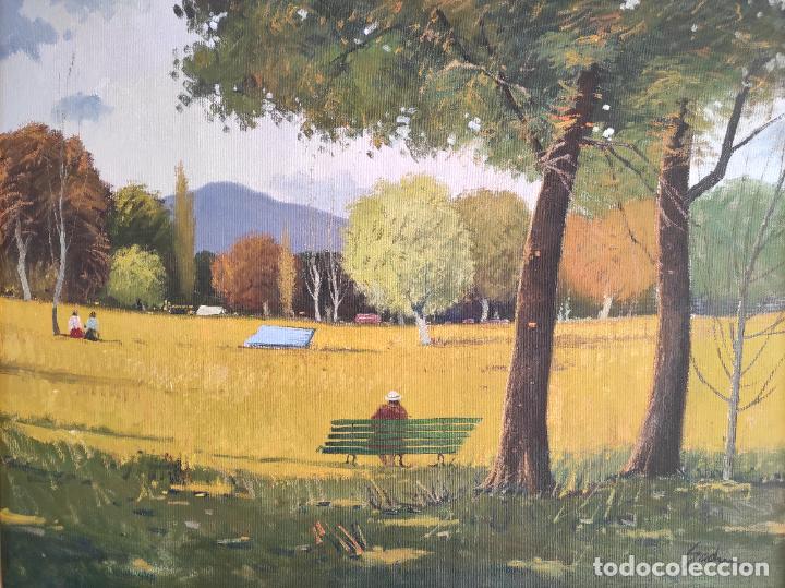 Arte: Antoni Maria Sadurní i Albanyà (Vic 1927-2014) - Óleo sobre Tela - Paisaje - Foto 3 - 262844320
