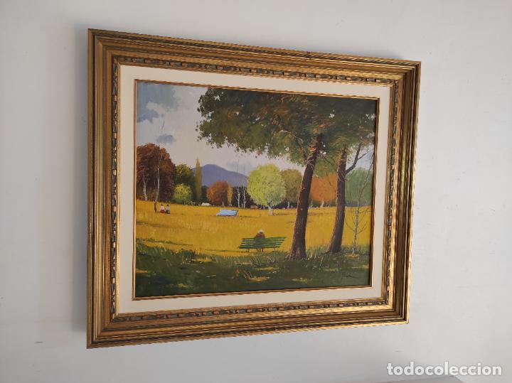 Arte: Antoni Maria Sadurní i Albanyà (Vic 1927-2014) - Óleo sobre Tela - Paisaje - Foto 7 - 262844320