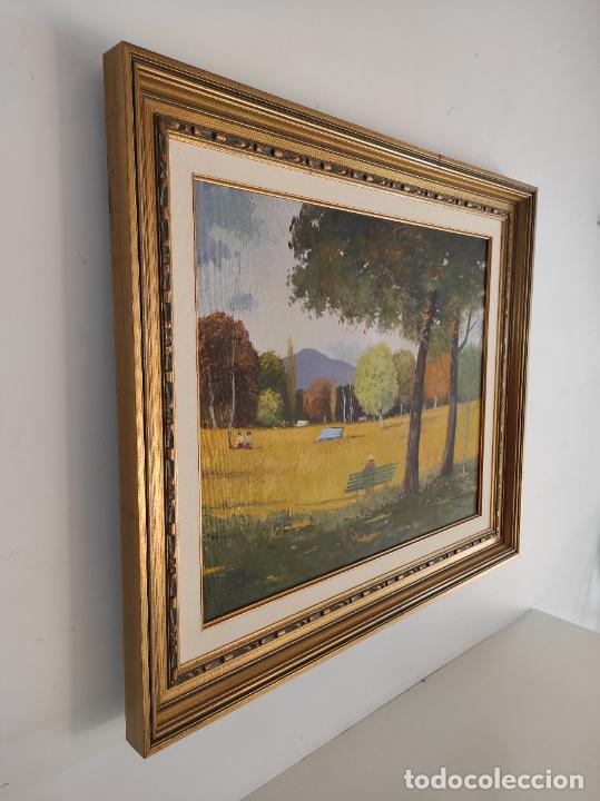 Arte: Antoni Maria Sadurní i Albanyà (Vic 1927-2014) - Óleo sobre Tela - Paisaje - Foto 8 - 262844320