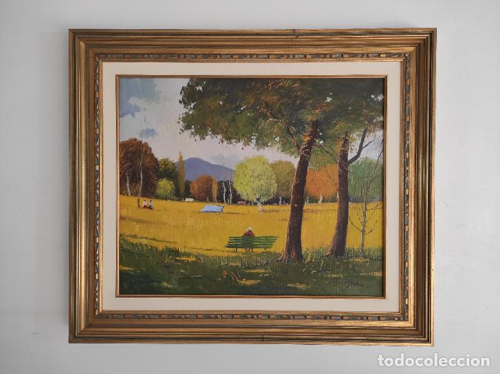 Arte: Antoni Maria Sadurní i Albanyà (Vic 1927-2014) - Óleo sobre Tela - Paisaje - Foto 11 - 262844320