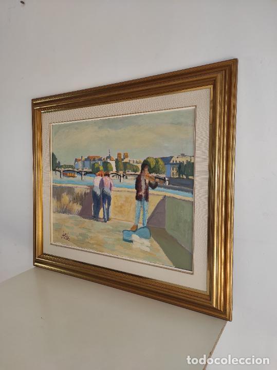 Arte: J. Curos (Girona 1937- Barcelona 2017) - Óleo sobre Tela - Paisaje - Foto 7 - 262857715