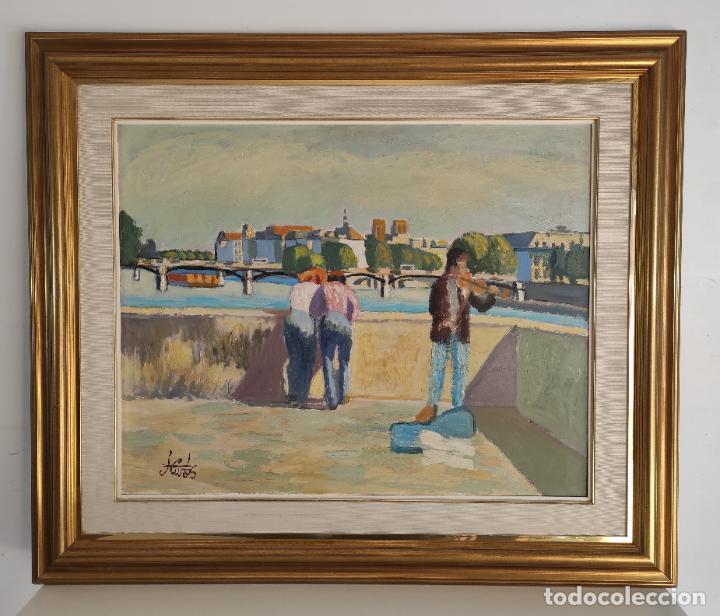 J. CUROS (GIRONA 1937- BARCELONA 2017) - ÓLEO SOBRE TELA - PAISAJE (Arte - Pintura - Pintura al Óleo Moderna sin fecha definida)