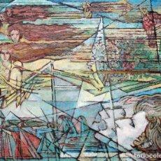 Arte: CARLES MADIROLAS (BARCELONA, 1934-2007) OLEO SOBRE CARTON ENTELADO. COMPOSICION ONIRICA. 72 X 90 CM.. Lote 262930925