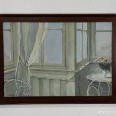 Arte: PERÉ SOLANILLA (OLOT, 1963) - ÓLEO SOBRE TELA. Lote 262999045