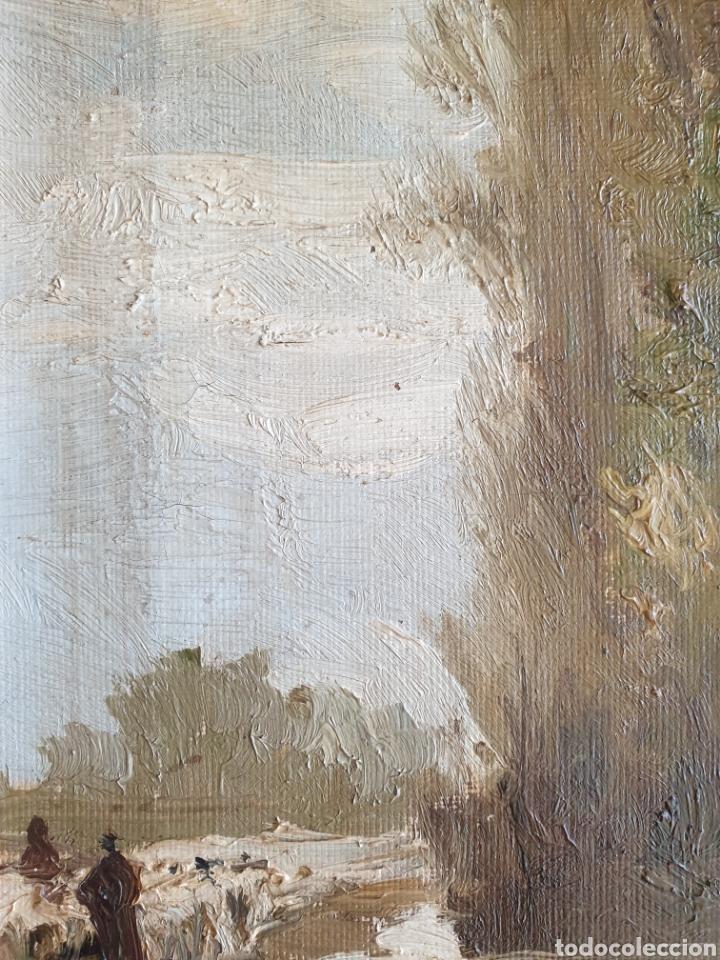 Arte: Escuela Española (XIX) - Paisaje Fluvial con Pastor i Rebaño.Oleo/Tela.Anónimo. - Foto 6 - 262957535