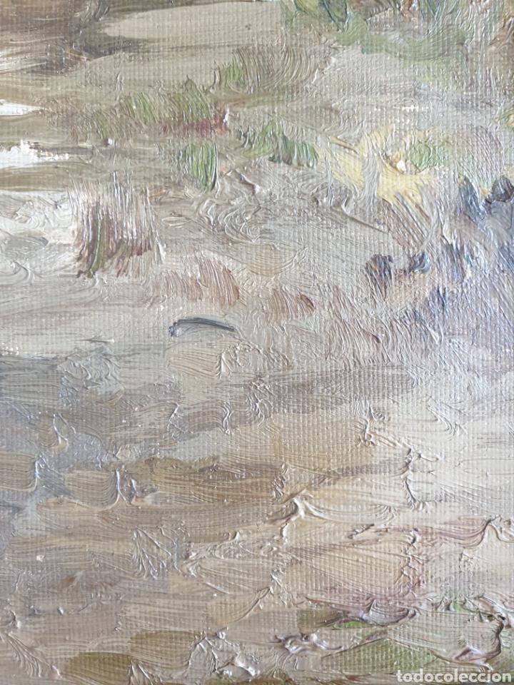 Arte: Escuela Española (XIX) - Paisaje Fluvial con Pastor i Rebaño.Oleo/Tela.Anónimo. - Foto 13 - 262957535