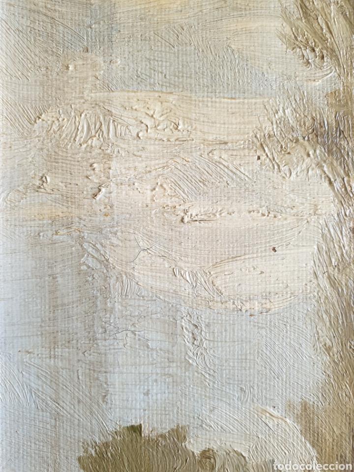 Arte: Escuela Española (XIX) - Paisaje Fluvial con Pastor i Rebaño.Oleo/Tela.Anónimo. - Foto 14 - 262957535