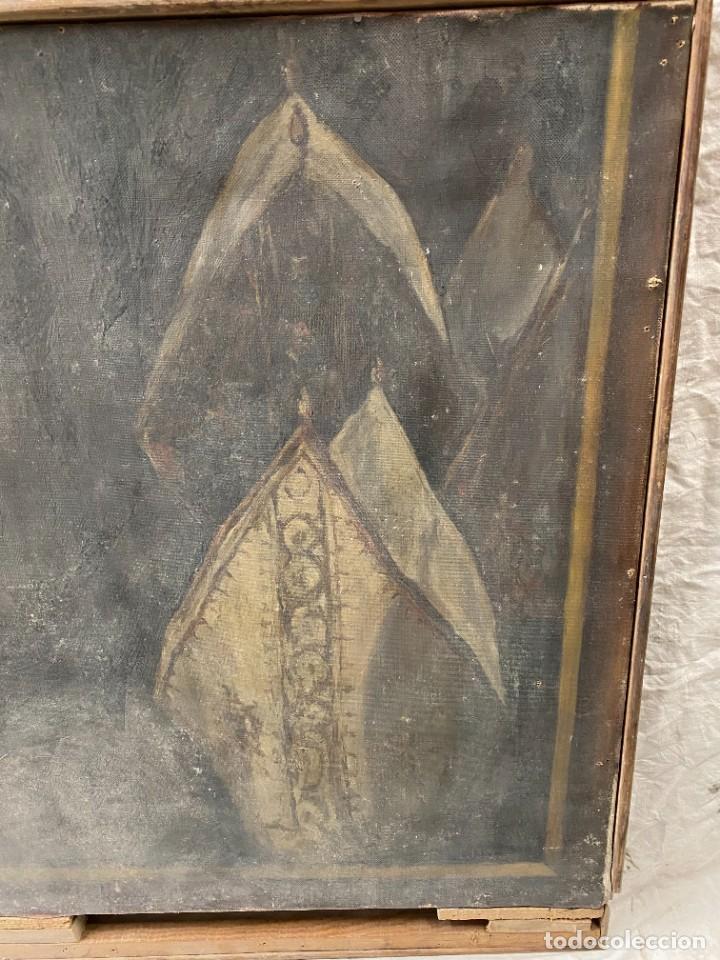 Arte: Óleo sobre lienzo de Ignacio Zuloaga, inédito, firmado. San Bernardino de Siena del Greco. 102x72. - Foto 3 - 263032795